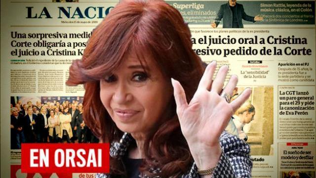 Clarín y La Nación ofuscados por la decisión de la Corte y la reunión en el PJ de Cristina