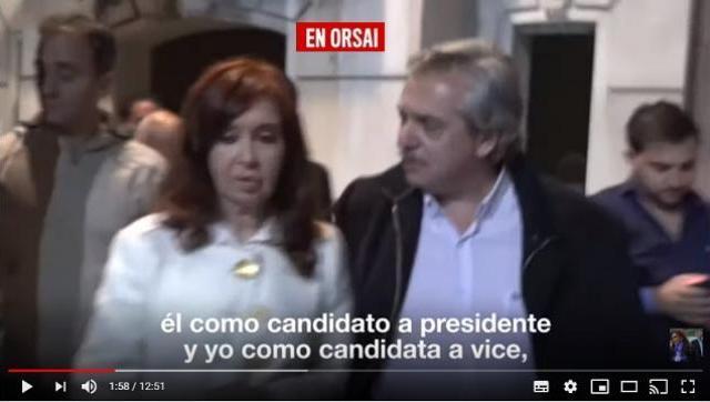 Habemus candidatos Cristina lanzó la fórmula presidencial