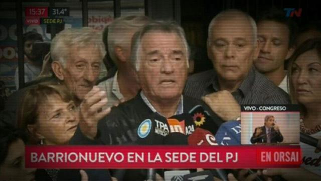 Hace un año Barrionuevo tomaba por asalto la sede del PJ y hoy es vocero de Lavagna