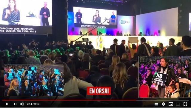 Michetti y Juliana Awada no fueron bienvenidas en la Cumbre Global de Discapacidad
