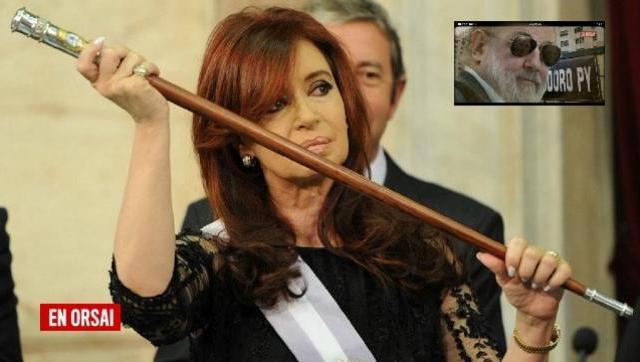 Otra que se cae: sobreseyeron a Cristina y ordenaron devolverle el bastón presidencial