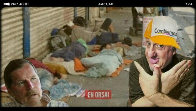 El Ultra Macrista Juan Acosta atacó a Juan Carr por ayudar a los sin techo