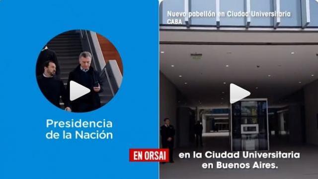 Muy trucho: Macri haciendo campaña electoral con las obras de Cristina Kirchner
