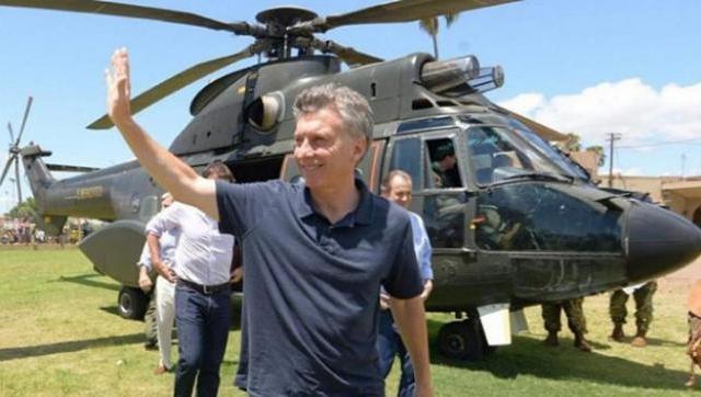 Macri viaja en helicóptero y usa fondos públicos para hacer campaña electoral