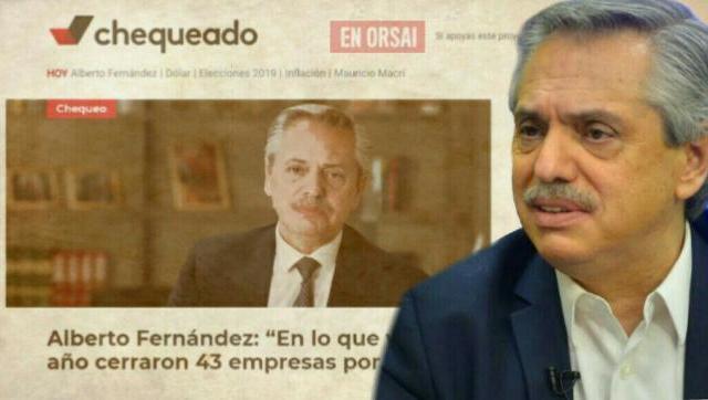 Contundente: Alberto Fernández le contestó con datos a Chequeado.com