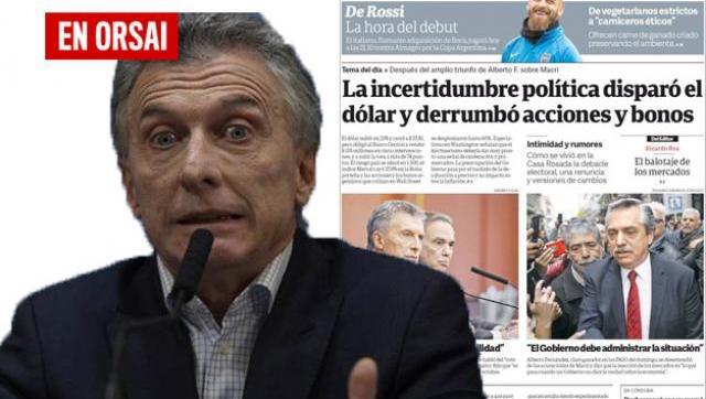 La insólita portada de Clarín para defender a Macri en medio de la debacle