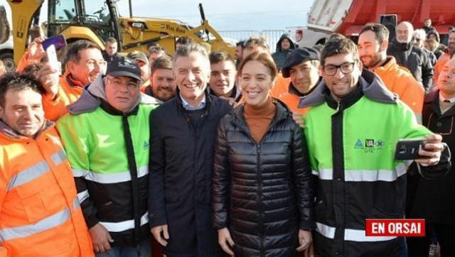 Paralizan y despiden a obreros en una obra que Macri y Vidal habían inaugurado en campaña