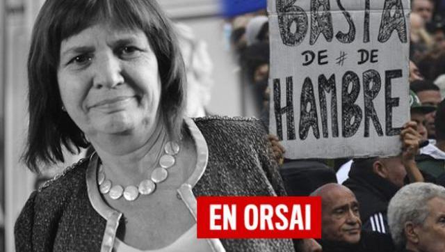 Más violencia: Patricia Bullrich cuestionó a la gente que no puede comer