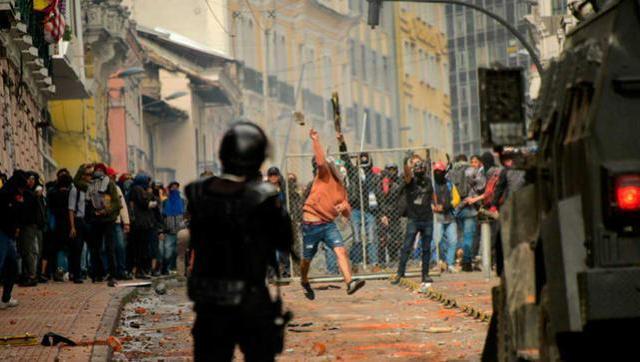 Dramática situación en Ecuador como respuesta al ajuste del Fondo Monetario