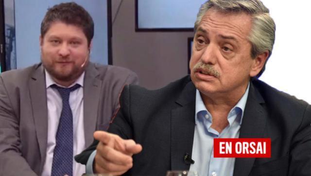Alberto Fernández dejó en ridículo a un operador de TN