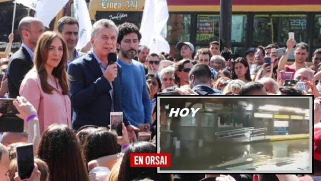Se inundó el Metrobús que Macri y Vidal inauguraron hace menos de un mes