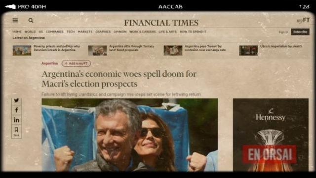 En el Financial Times destrozan a Macri: