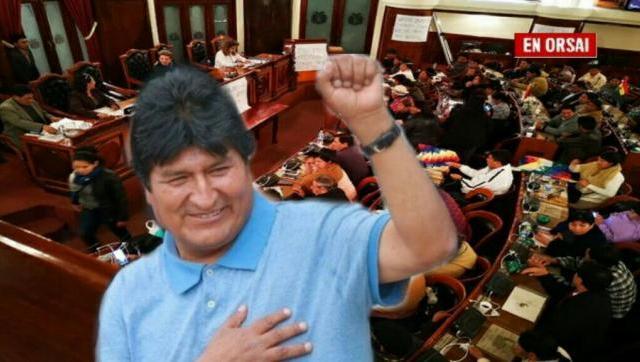 Para la Cámara de Diputados de Bolivia Evo Morales es el presidente