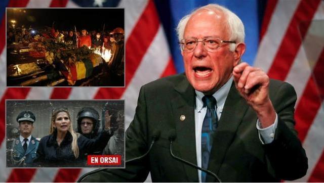 Bernie Sanders: Lo de Bolivia se llama golpe de estado