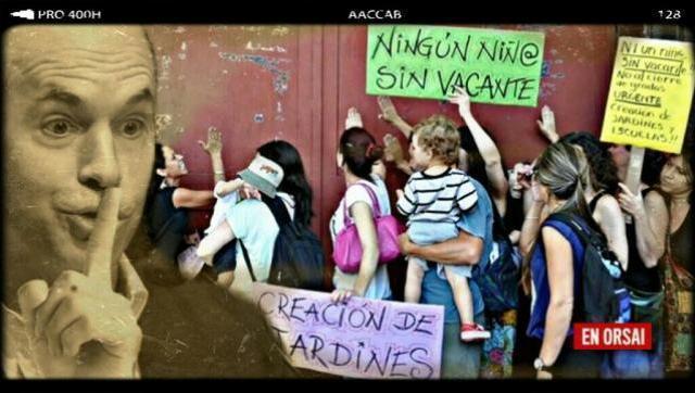 Larreta miente: padres marchan al ministerio porque sus hijos están sin vacantes en la Ciudad
