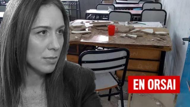 En la provincia de Vidal se caen los techos de las escuelas encima de docentes y estudiantes
