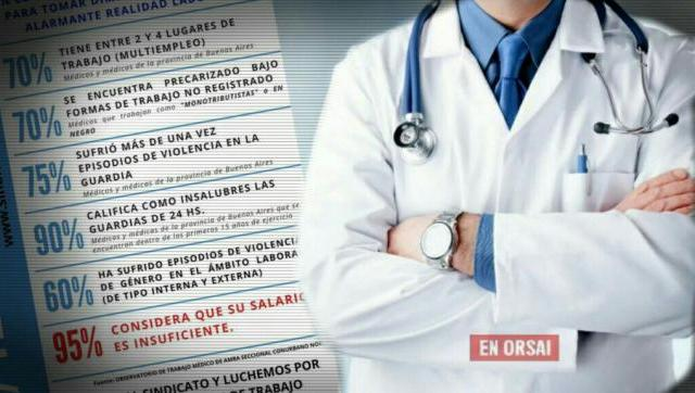 En el día del médico, los profesionales de la salud insistieron en que su salario es insuficiente.