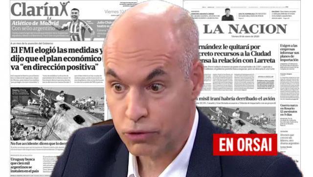 Medios opositores cuestionan a Fernández para defender a Larreta
