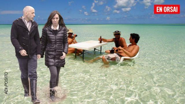 Hace un mes tenía que vivir en una base militar, ahora Vidal se pasea por la playa