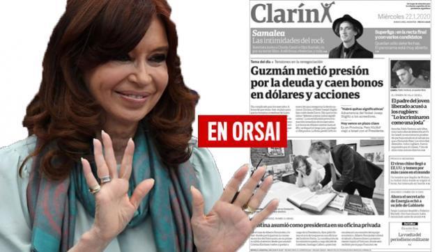 No le quedó otra: Clarín tituló que Cristina asumió la Presidencia y destiló veneno