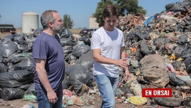 Sabbatella y Mantegazza recorrieron el Ecopunto de San Vicente que el macrismo dejó en estado de abandono