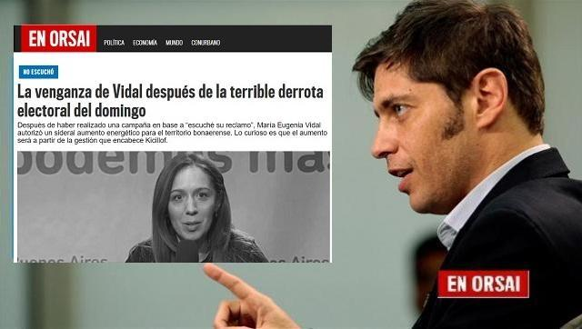 El Gobierno de Kicillof suspendió el aumento de luz que había autorizado Vidal