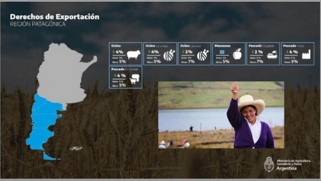 La Patagonia beneficiada por la baja en las retenciones
