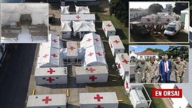 Cómo es el hospital reubicable que el Ejército monta en Campo de Mayo
