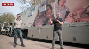 Sabbatella recorrió las Unidades Sanitarias Móviles que asistirán a hospitales públicos de la Cuenca