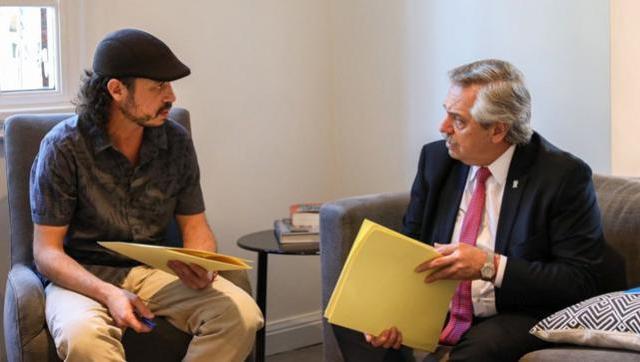 Alberto se reunió con Nacho Levy de la garganta Poderosa por la situación de la Villa 31
