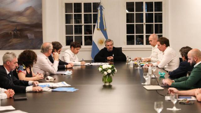 Reunión cumbre para definir cómo sigue la cuarentena: Alberto, Axel y Larreta