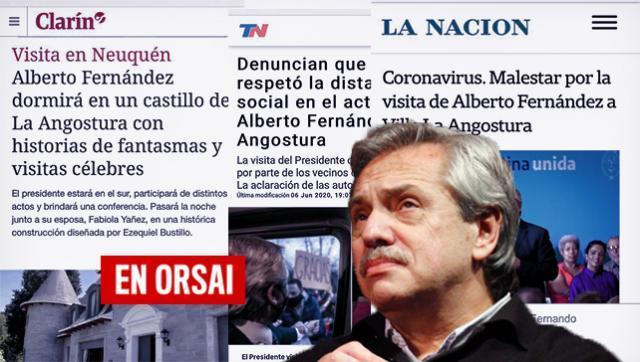 Alberto desmintió a Clarín y La Nación por más noticias falsas