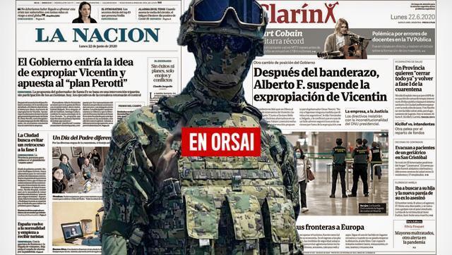 Periodismo de guerra: Clarín y La Nación atacan a Alberto y Axel