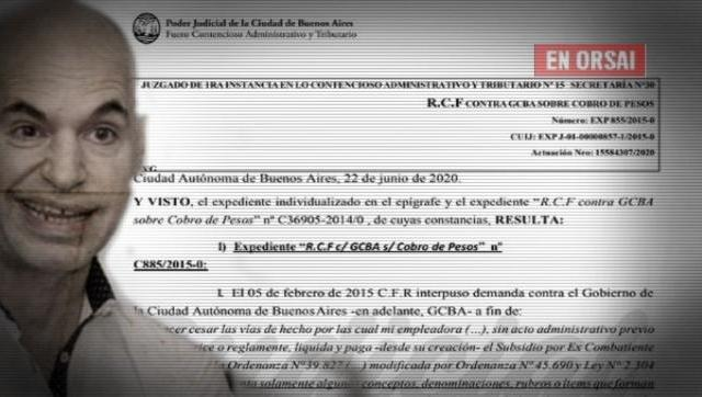 Ordenaron a Larreta a restituir con intereses el subsidio a un excombatiente