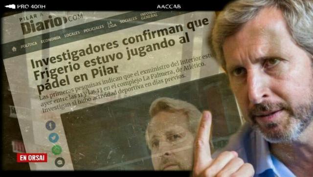 Aseguran que Frigerio (ex ministro de cambiemos) estaba en el torneo de pádel en Pilar que violó la cuarentena