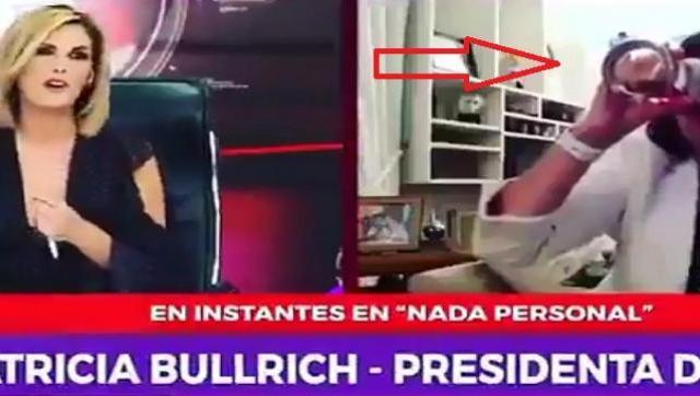 No es fino? La presidenta de Cambiemos tomando alcohol y eructando en medio de una entrevista de TV