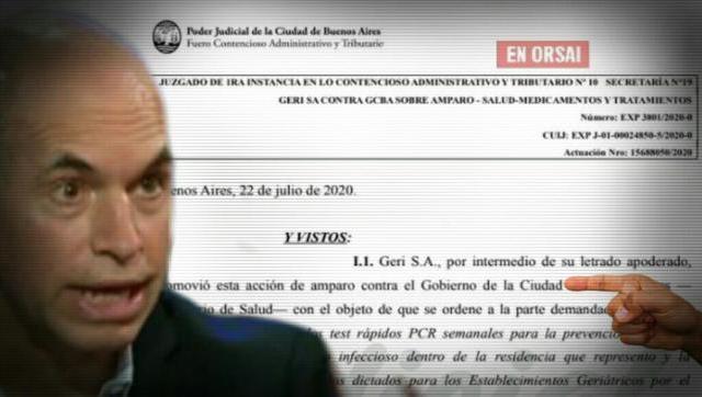 La Justicia ordena a Larreta a realizar testeos en todos los geriátricos privados porteños