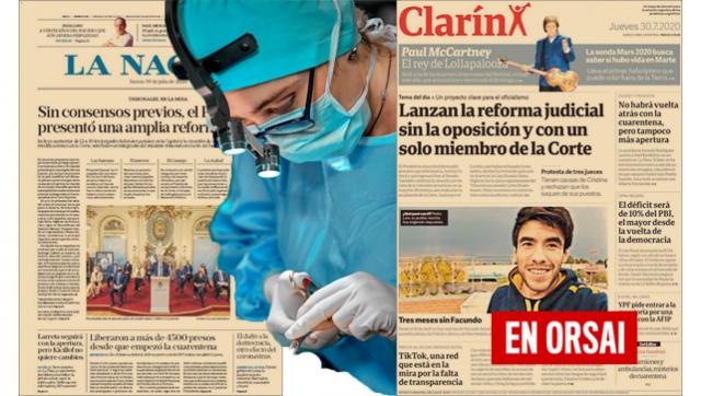 Clarín y La Nación salen a la cancha a operar en contra de la reforma judicial