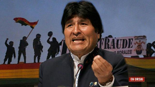 Evo Morales denunció que en Bolivia se está organizando