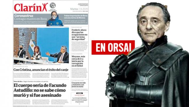 La idea fija: Clarín destacó a Cristina por encima del acuerdo de la deuda