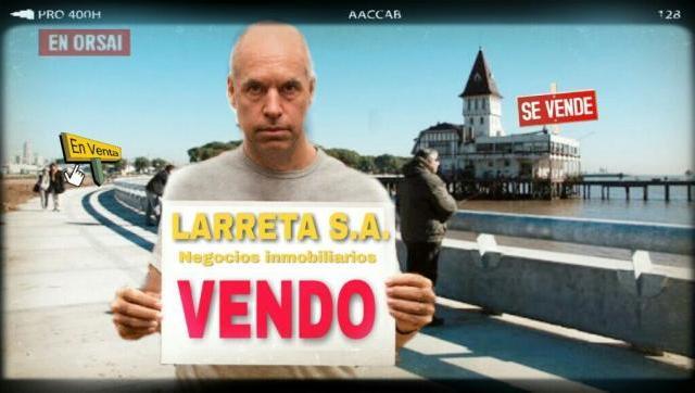 Inmobiliaria Larreta: es Inminente la Privatización de la Costanera