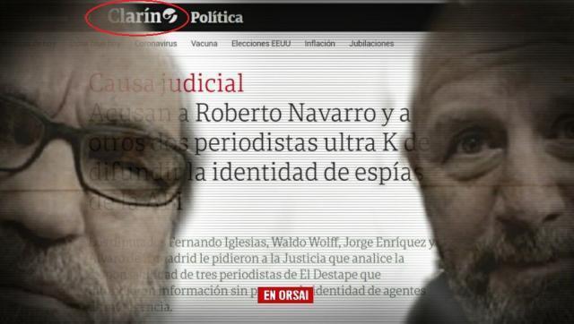 El diario UltraMacrista Clarín festejando la denuncia contra periodistas, ¿Se imaginan si las cosas fueran al revés?