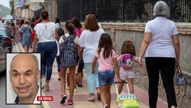 La locura de Larreta de hacer ir a la escuela a chicos de 5 años a realizar actividades no escolares