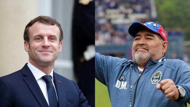 El sentido homenaje de Emmanuel Macron por el fallecimiento de Diego Maradona