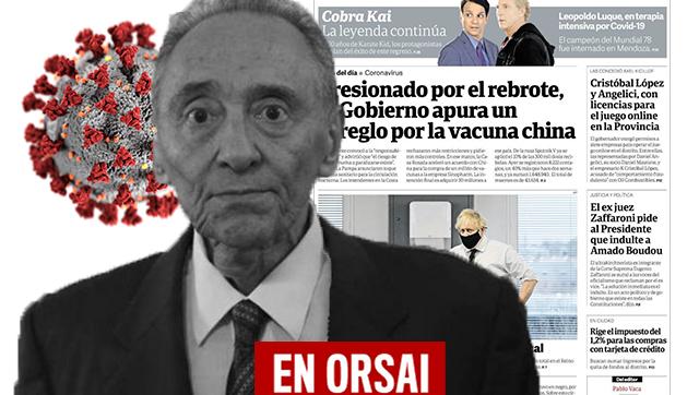 Para Clarín es una mala noticia la llegada de más vacunas para el Covid-19