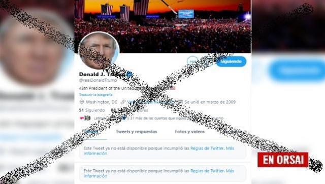 Trump quiso Tuitear desde otra cuenta tras ser suspendido por Twitter pero lo descubrieron y borran sus publicaciones