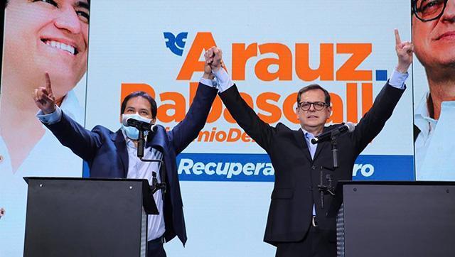 Andrés Arauz celebró la aplastante victoria en casi todas las regiones de Ecuador