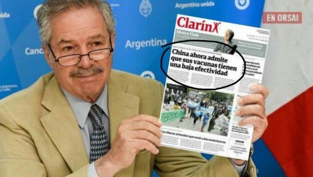 Felipe Solá le respondió a la opereta de Clarín sobre las vacunas Chinas
