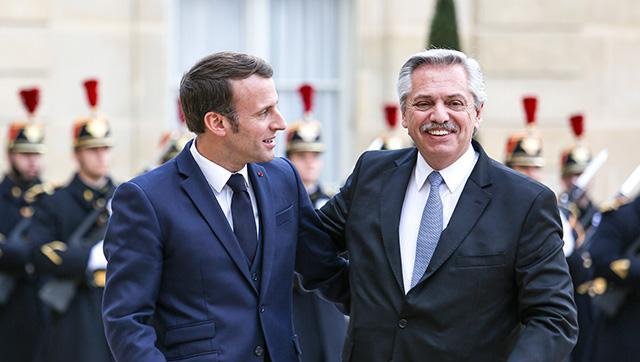 Alberto Fernández se llevó un importante respaldo de Macron para renegociar la deuda