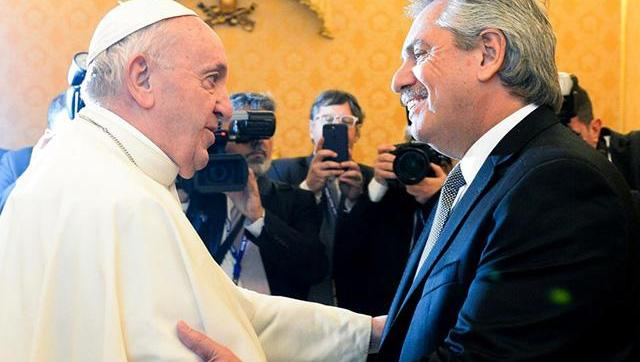 Alberto Fernández afirmó que el Papa